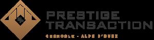 Logo Prestige Transaction gris, agence immobilière à Grenoble et Alpe d'Huez